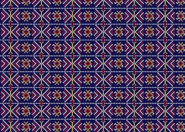 Traditional songket pattern