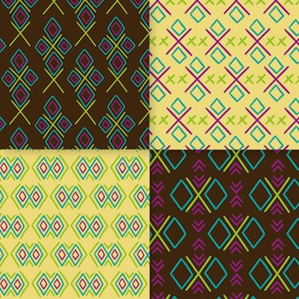 Traditional songket patterns set