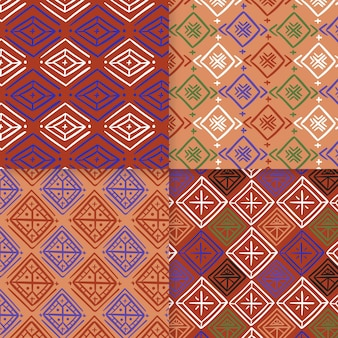 Traditional songket seamless pattern template