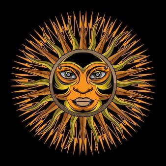 伝統的な太陽のタトゥー