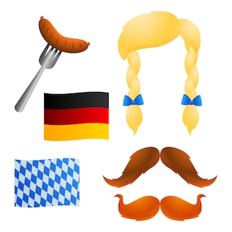 Traditional symbols of oktoberfest