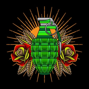 Традиционные тату-гранаты