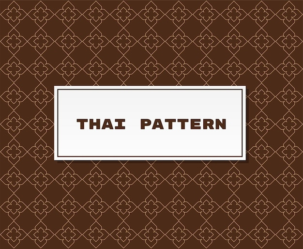 Traditional thai pattern illustration