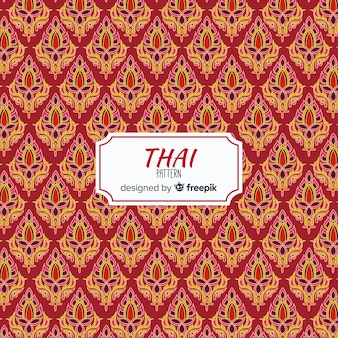 Traditional thai pattern with flat design
