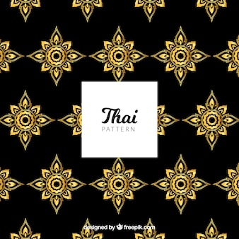 Traditional thai pattern with golden style
