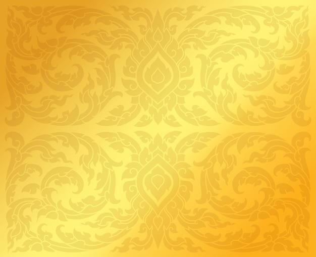 伝統的なタイのパターンの背景。ベクトルイラスト