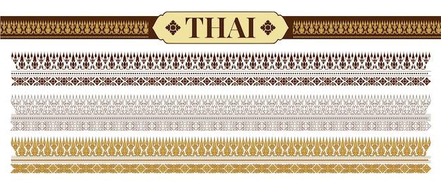 伝統的なタイのパターンベクトル図