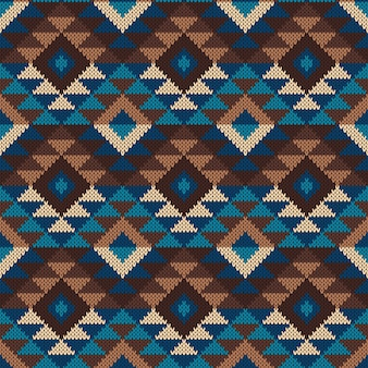 伝統的な部族のアステカのシームレスなパターン