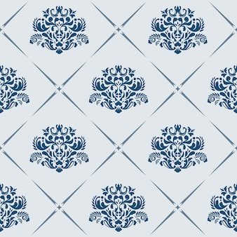 Traditional vector seamless pattern with victorian motives