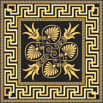 Traditional vintage gold greek ornament (meander)