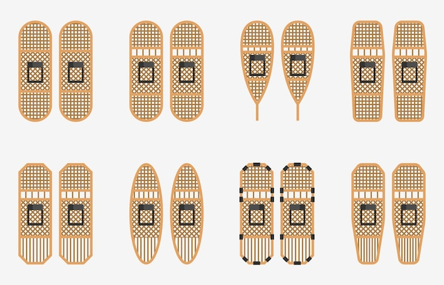 Traditional wodden snowshoes collections