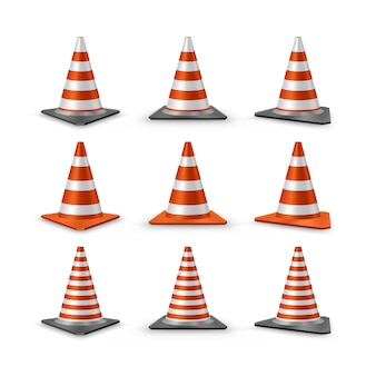 Traffic cones set