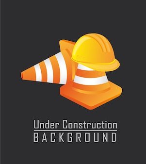 Traffic cones with helmet isolated