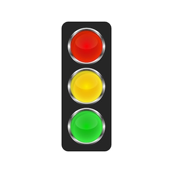 Traffic light icon - vector.