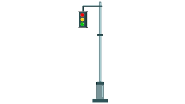 Traffic light insolated