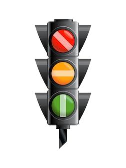 Traffic light isolated on white