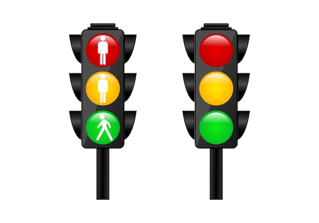 Traffic light logo symbol