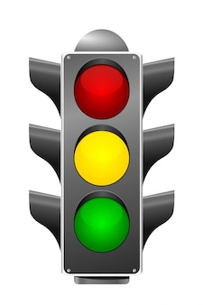 Светофор на белом фоне