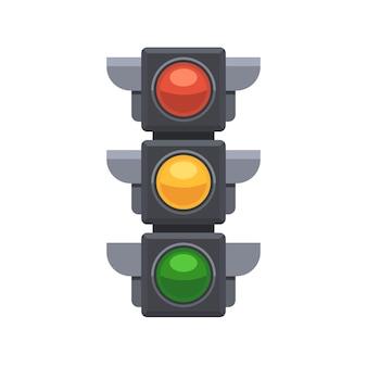 Знак светофора, изолированные на белом фоне