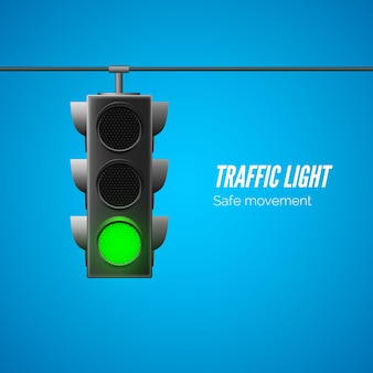 Traffic light. traffic laws.