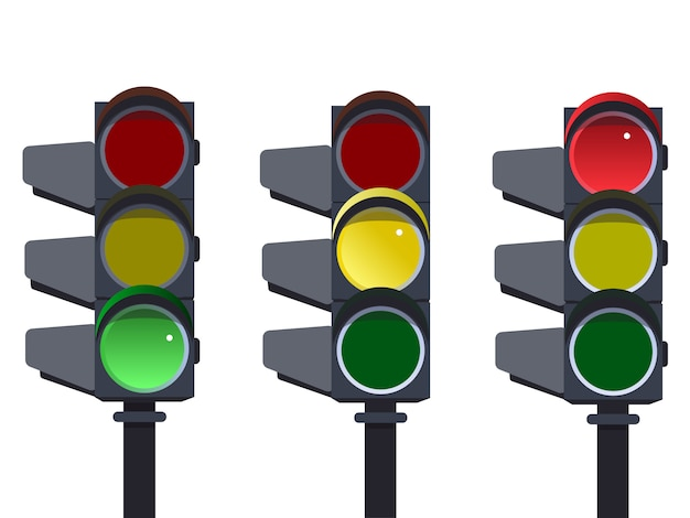Traffic light, traffic light sequence.