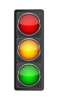 Traffic light. vector illustration.