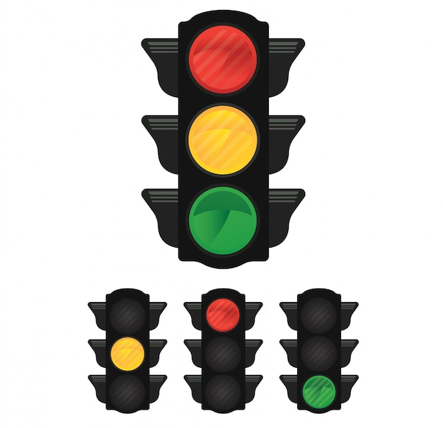 Traffic light with yellow,red,green light