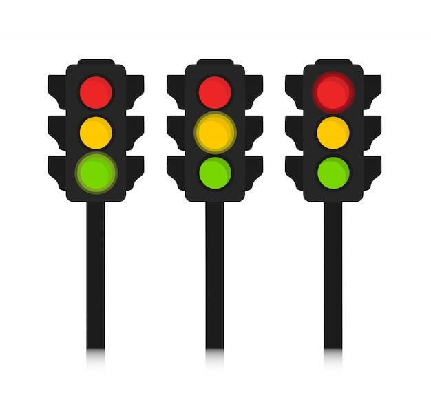 Traffic lights flat