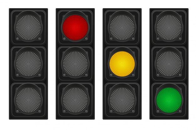 車の交通信号灯ベクトルイラスト
