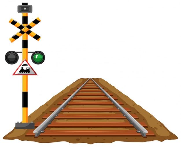 Светофор для поезда и железной дороги