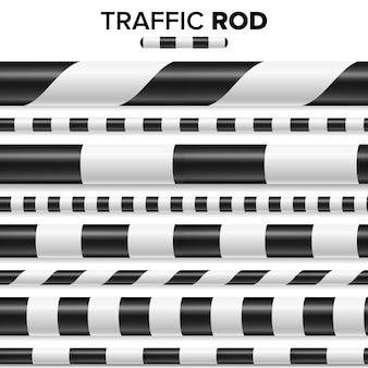 Traffic police stick illustration