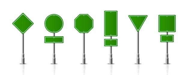 Traffic road realistic signs signage warning sign stop danger caution speed highway street board.