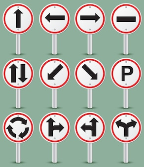 Traffic road sign collection