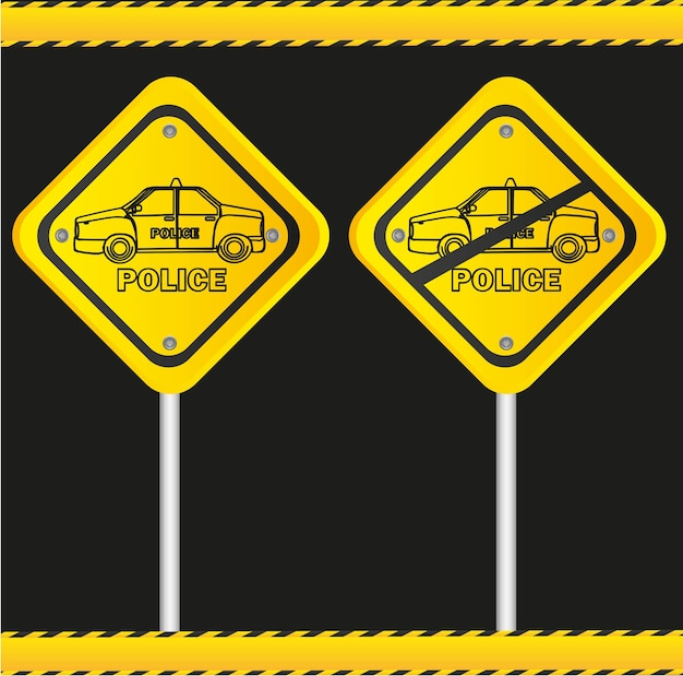 Traffic sign isolated on black background