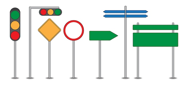 Traffic sign traffic light symbol flat