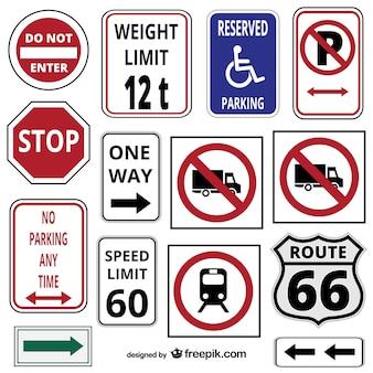 Traffic signs and symbols