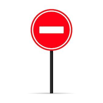 Значок сигнала остановки движения. предупреждающий знак. вектор на изолированном белом фоне. eps 10.