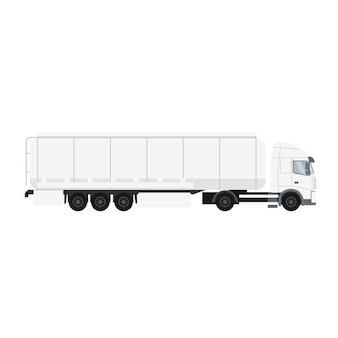 Trailer truck with cistern