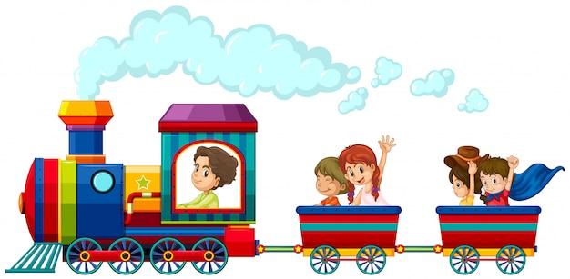 電車と子供