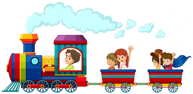 Train and children