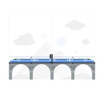 Trainconcept illustration