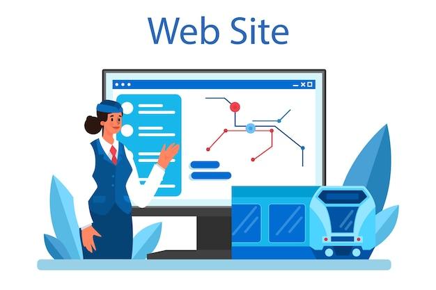 Train conductor online service or platform