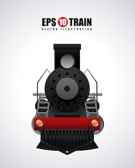 Train design over gray  background vector illustration