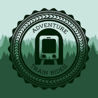 Train design over green background vector illustration