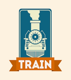 Train design over pink background vector illustration