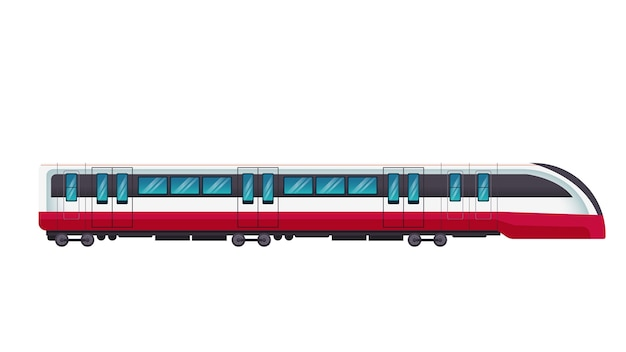 Train isolated vector illustration