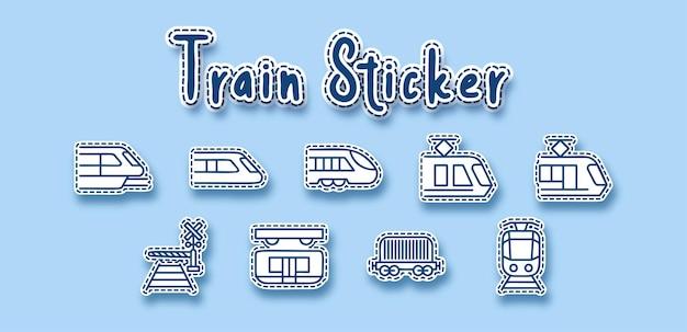 Train rail transport line sticker