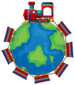 Train riding around the world