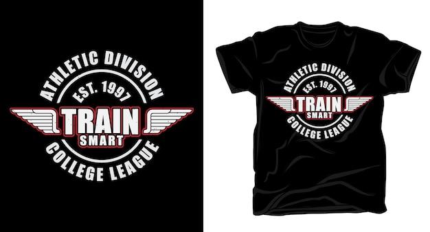 Дизайн футболки с умной типографикой train