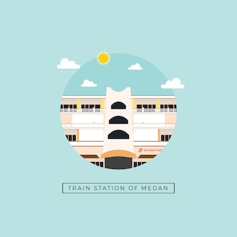 Train station of medan